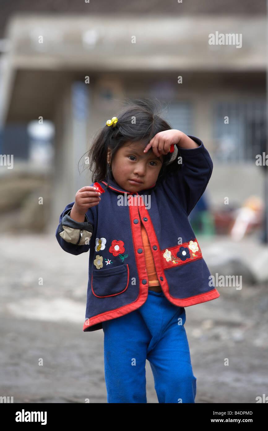 Local girl, Andes Mountains, Ecuador - Stock Image