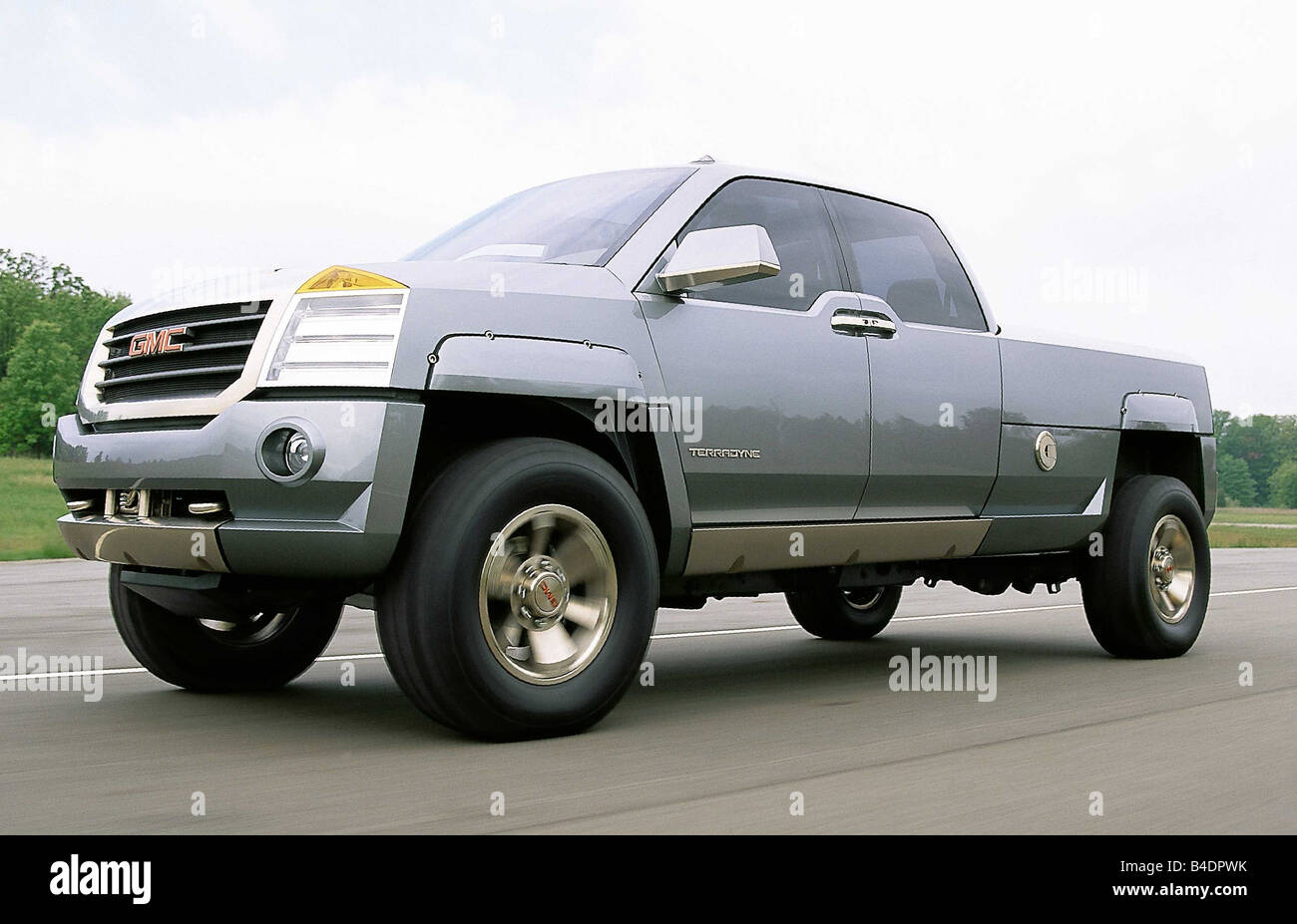 Car, Concept Cars General engines, Terradyne, model year 2000, silver, gray, diagonal from the front, driving, ams - Stock Image