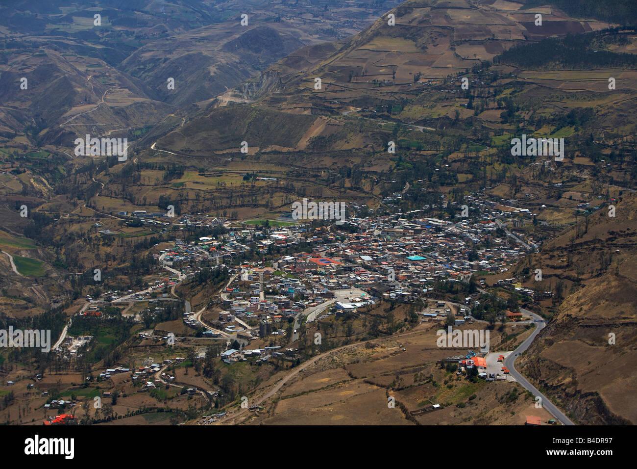 Mountain village, Alausi, Ecuador - Stock Image