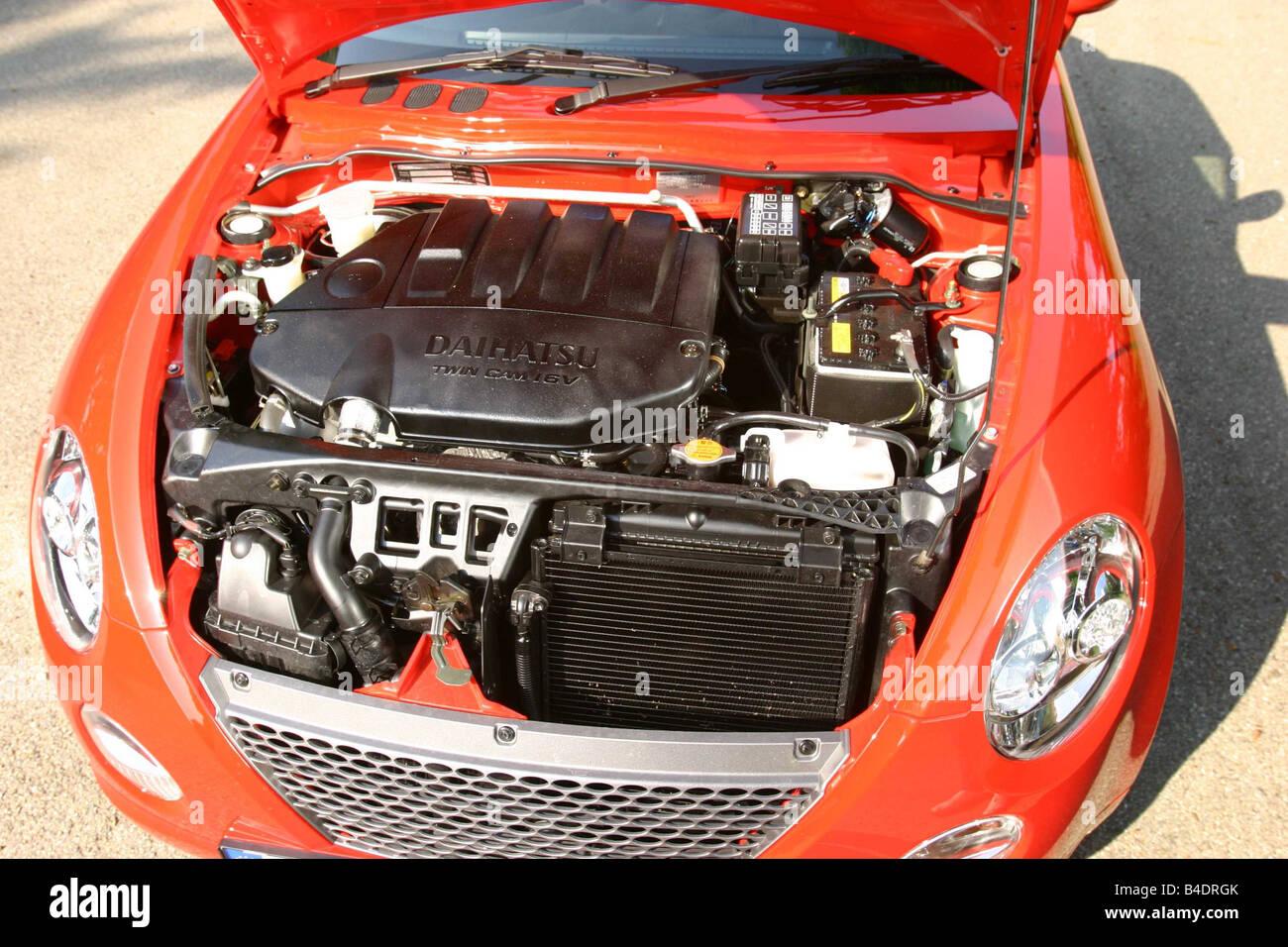 Car, Daihatsu Copen, Convertible, model year 2003-, red-orange