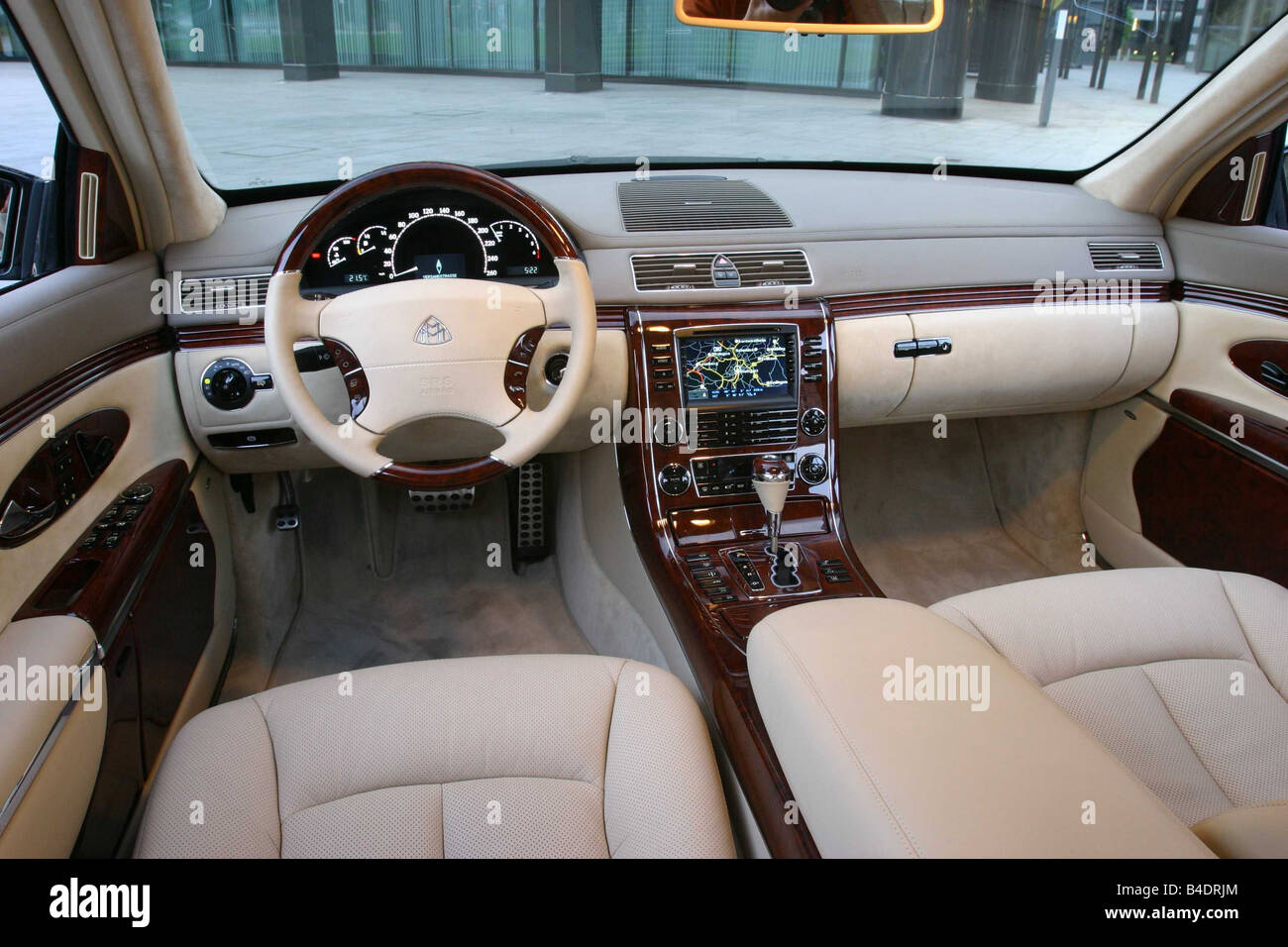 car mercedes maybach 62 luxury approx s black model year 2003 stock photo 19972924 alamy. Black Bedroom Furniture Sets. Home Design Ideas