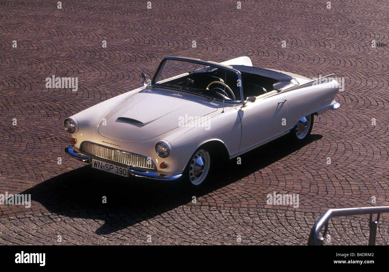 Car, Auto Union 1000 SP, Roadster, Convertible, model year 1958-1965, Vintage approx., 1950s, sixties, Baur car - Stock Image