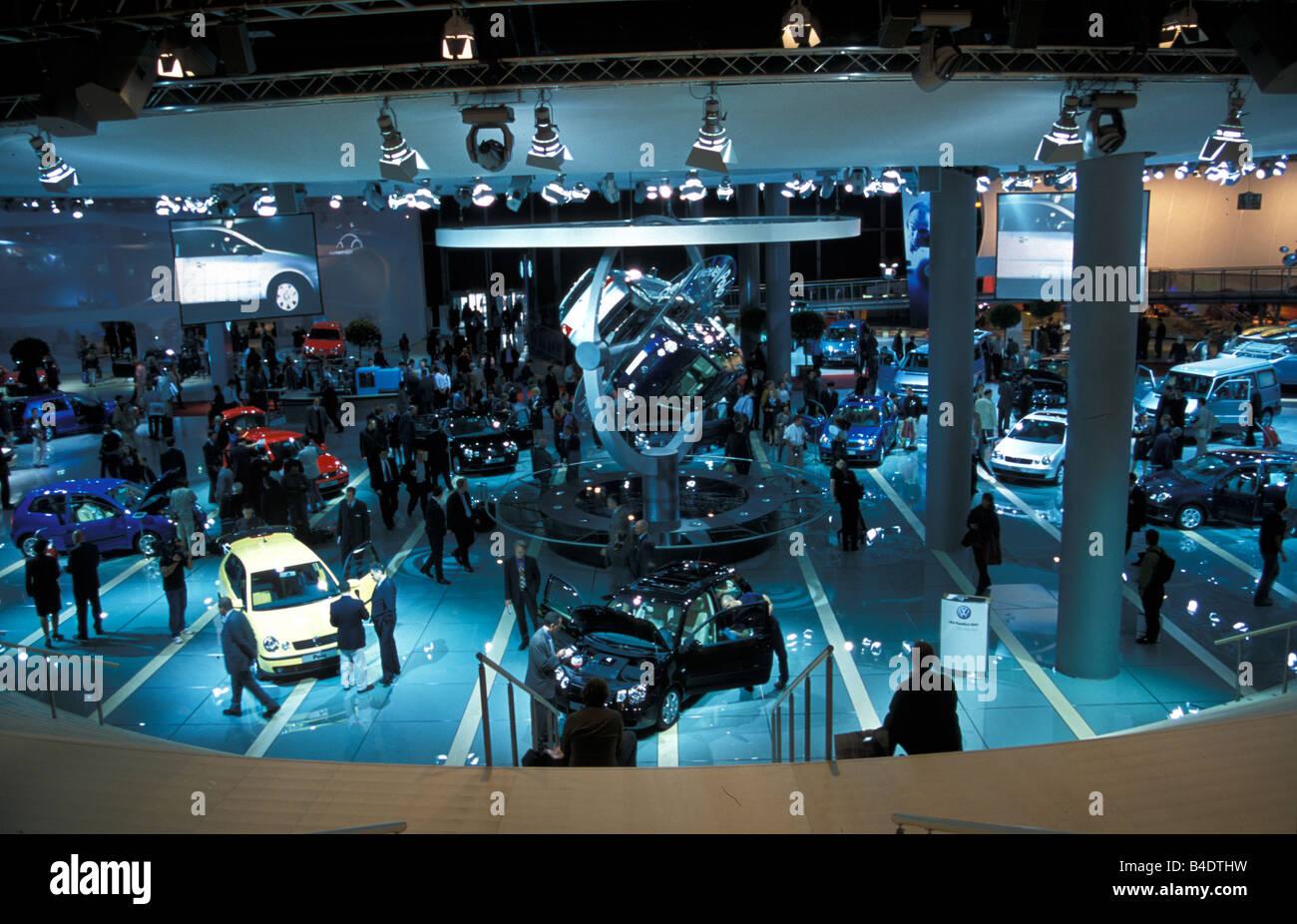 Car, IAA 1999, Frankfurt, Exhibition VW Volkswagen Volkswagen, presentation of the new polo - Stock Image