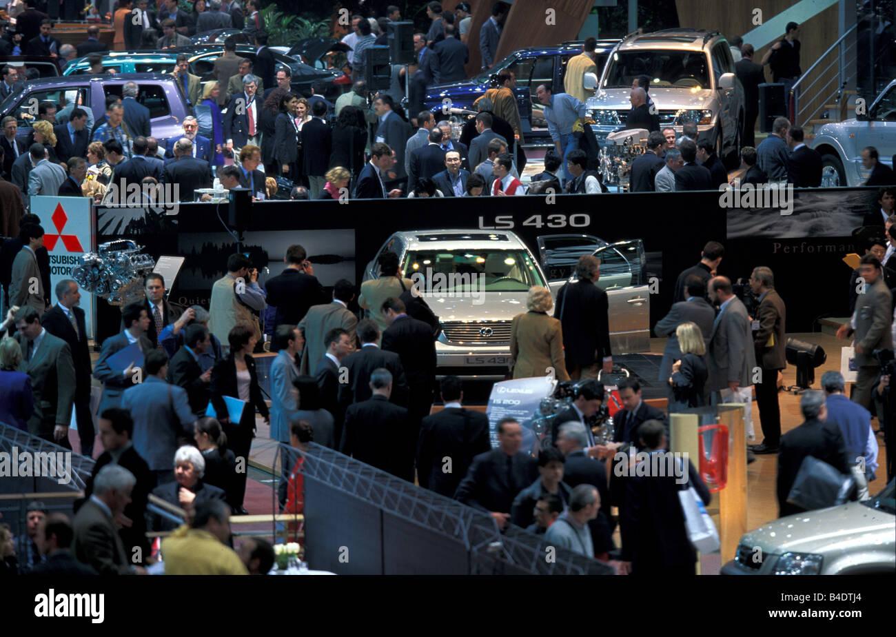 Car, IAA 1999, Frankfurt, booth - Stock Image