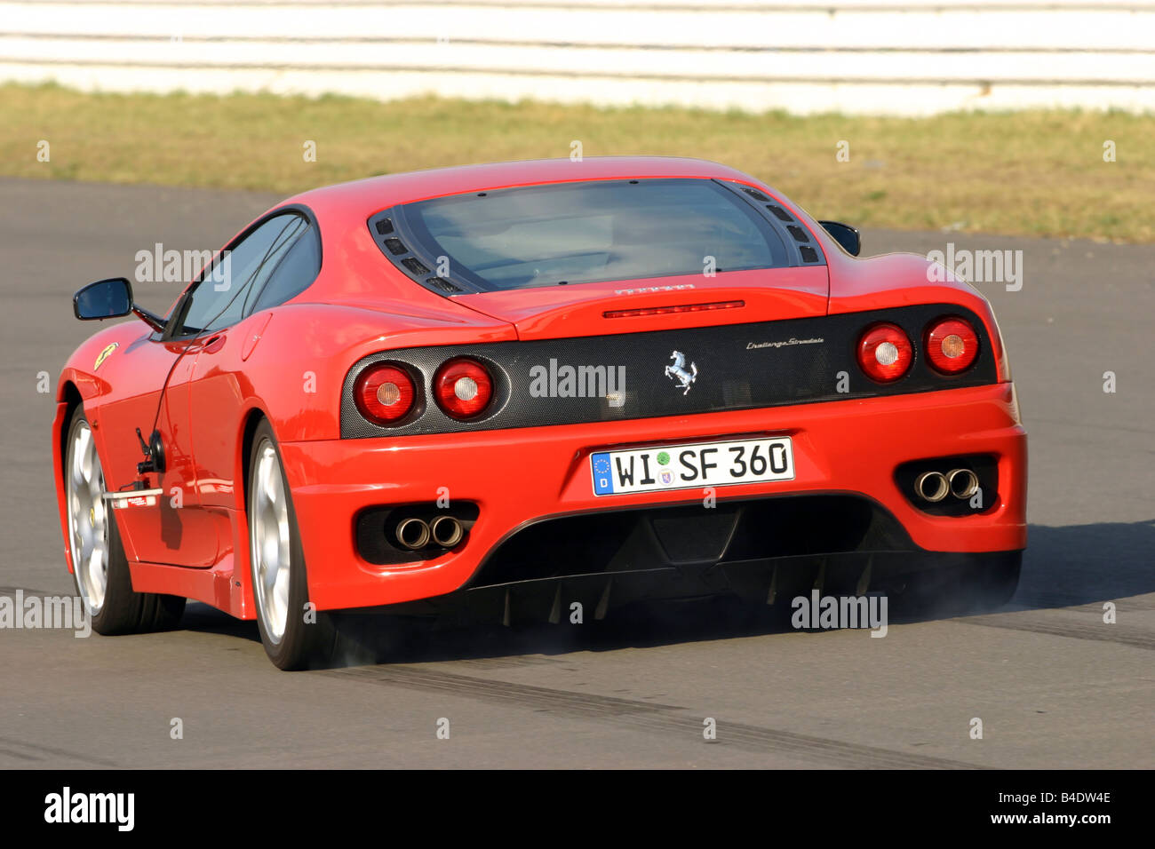 Car Ferrari 360 Challenge Stradale Roadster Coupe Coupe Red Stock Photo Alamy