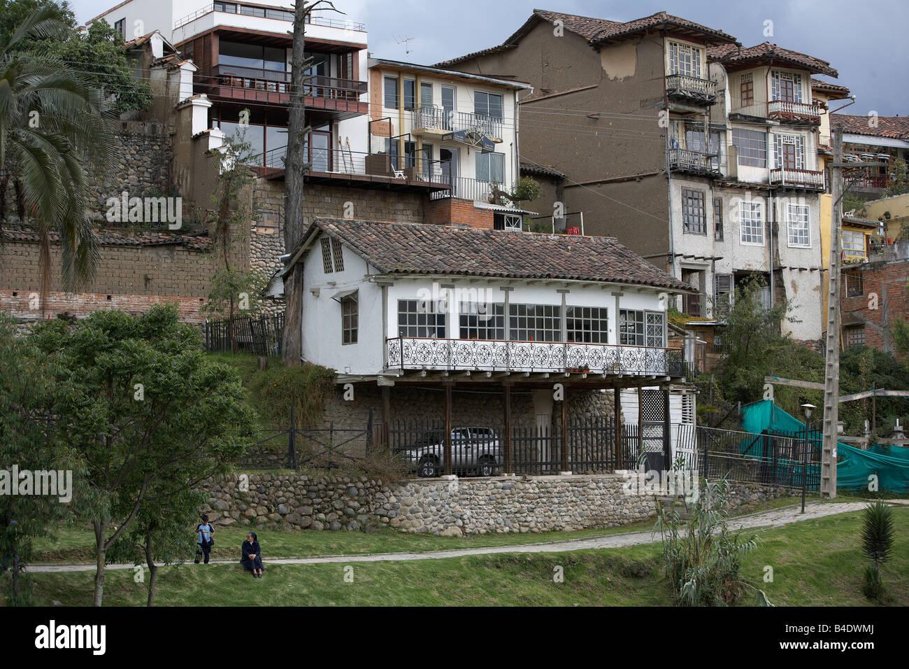 Homes, Quito Ecuador - Stock Image