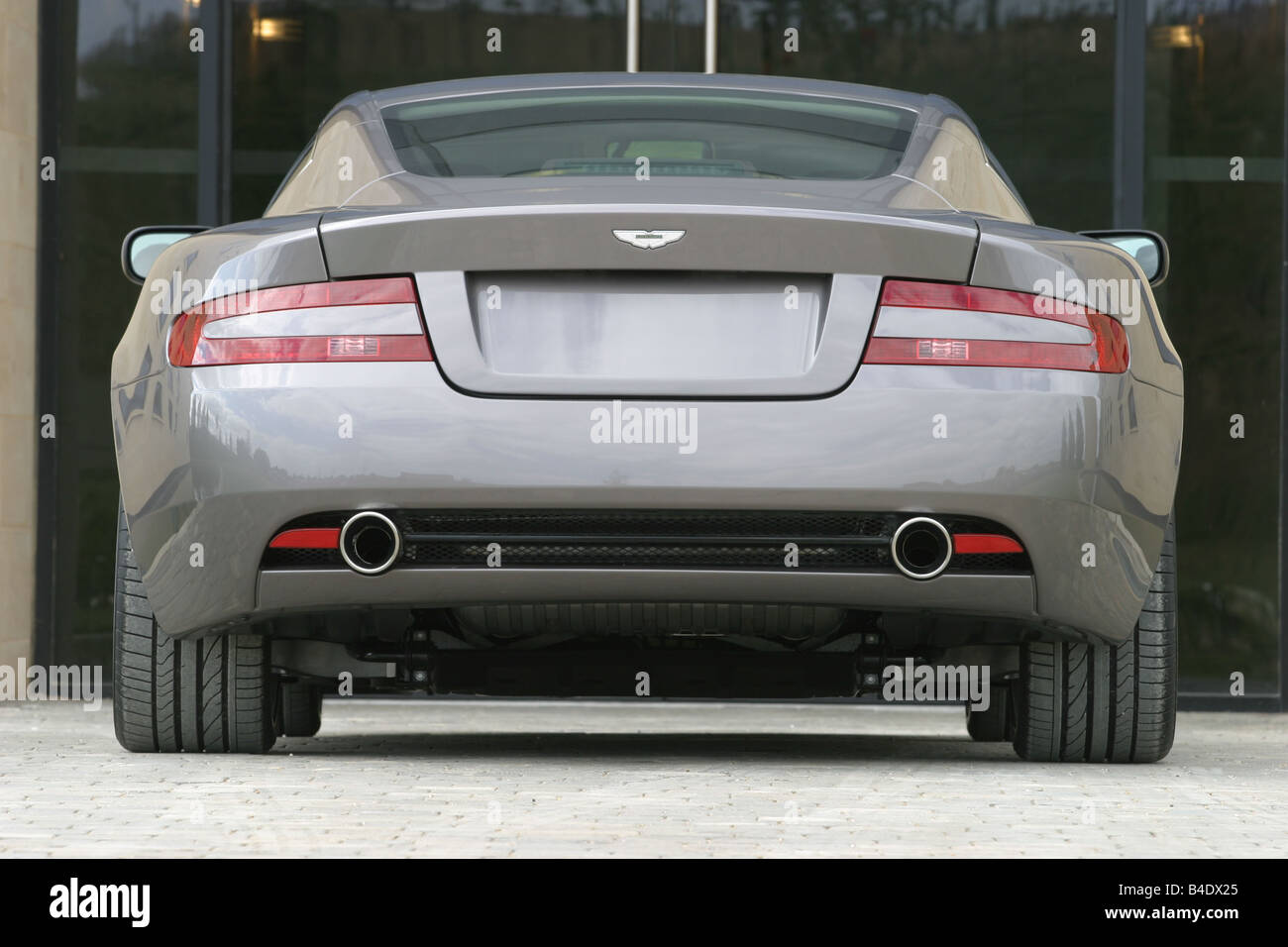 Car, Aston Martin DB9, Roadster, Coupe/Coupe, Silver Anthracite, Model Year  2003 , Driving, Standing, Upholding, Diagonal From T