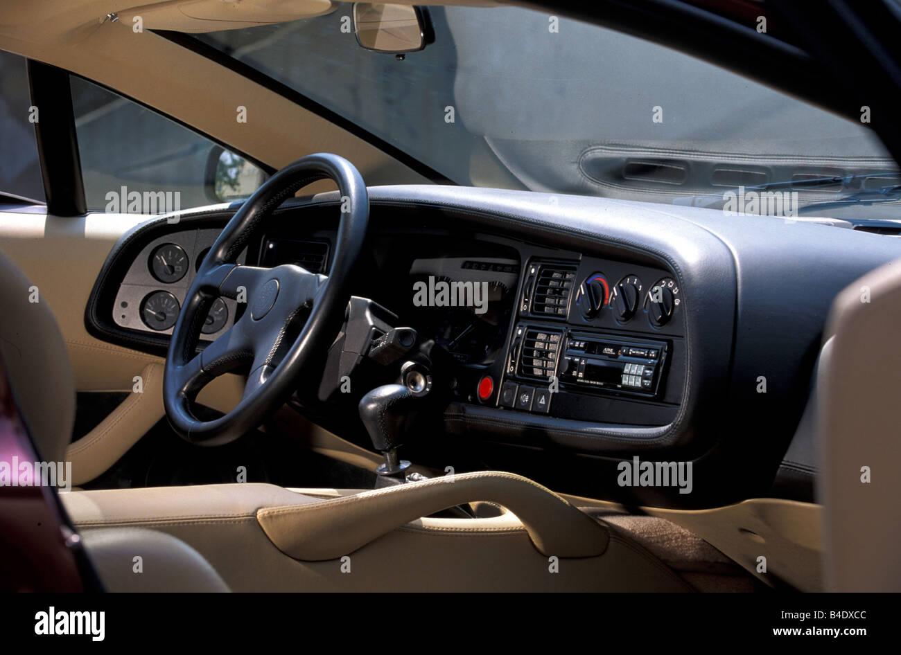 Car Jaguar Xj 220 Model Year 1994 Wine Red Metallic Coupe Coupe Stock Photo Alamy