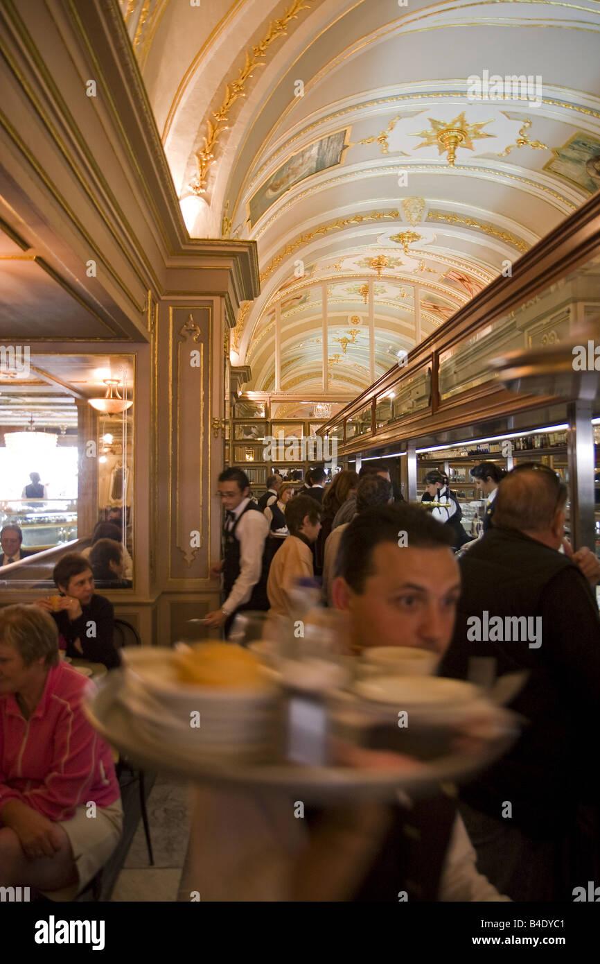 Cordina cafe Valetta Malta - Stock Image