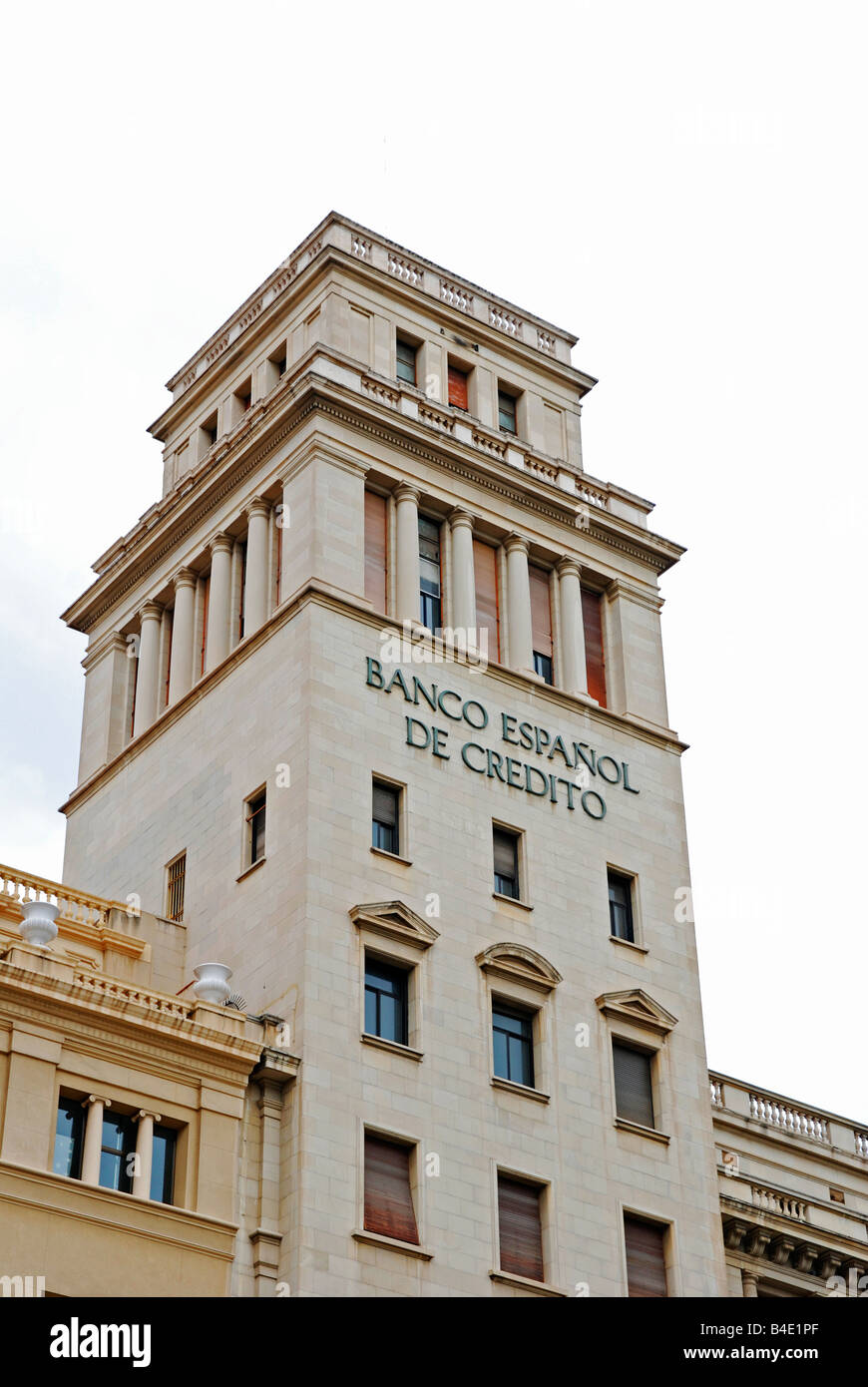 banco espanol in barcelona, spain - Stock Image