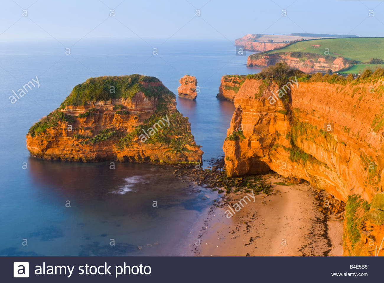 Ladram Bay, near Sidmouth, East Devon, South West England. - Stock Image