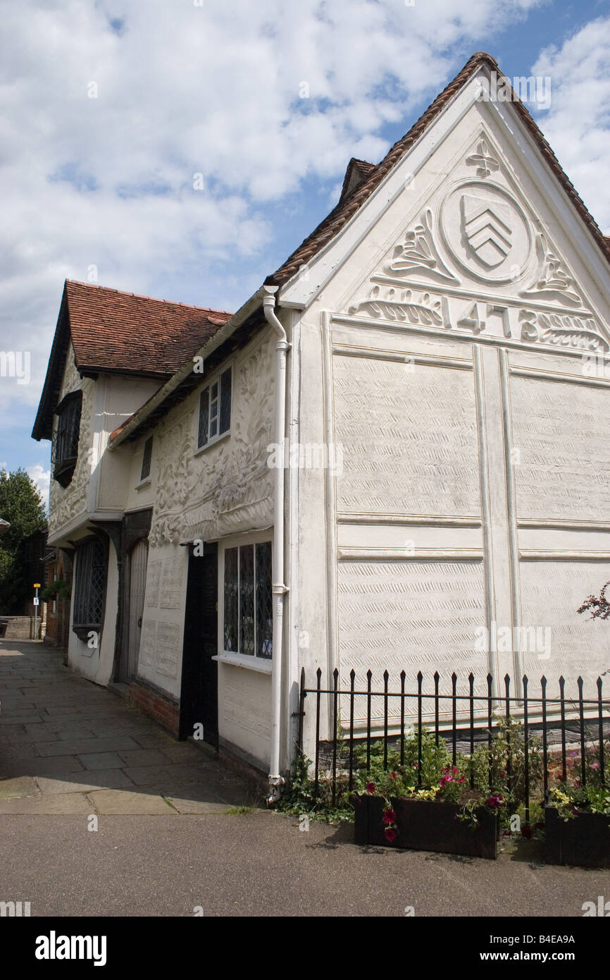 The Ancient House medieval town of Clare Suffolk England - Stock Image