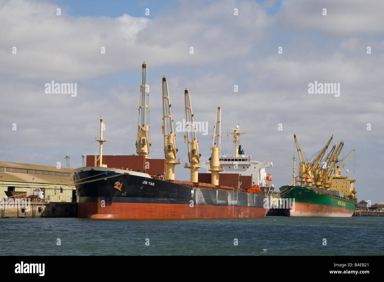 Container ships in the Port River, Adelaide, South Australia - Stock Image