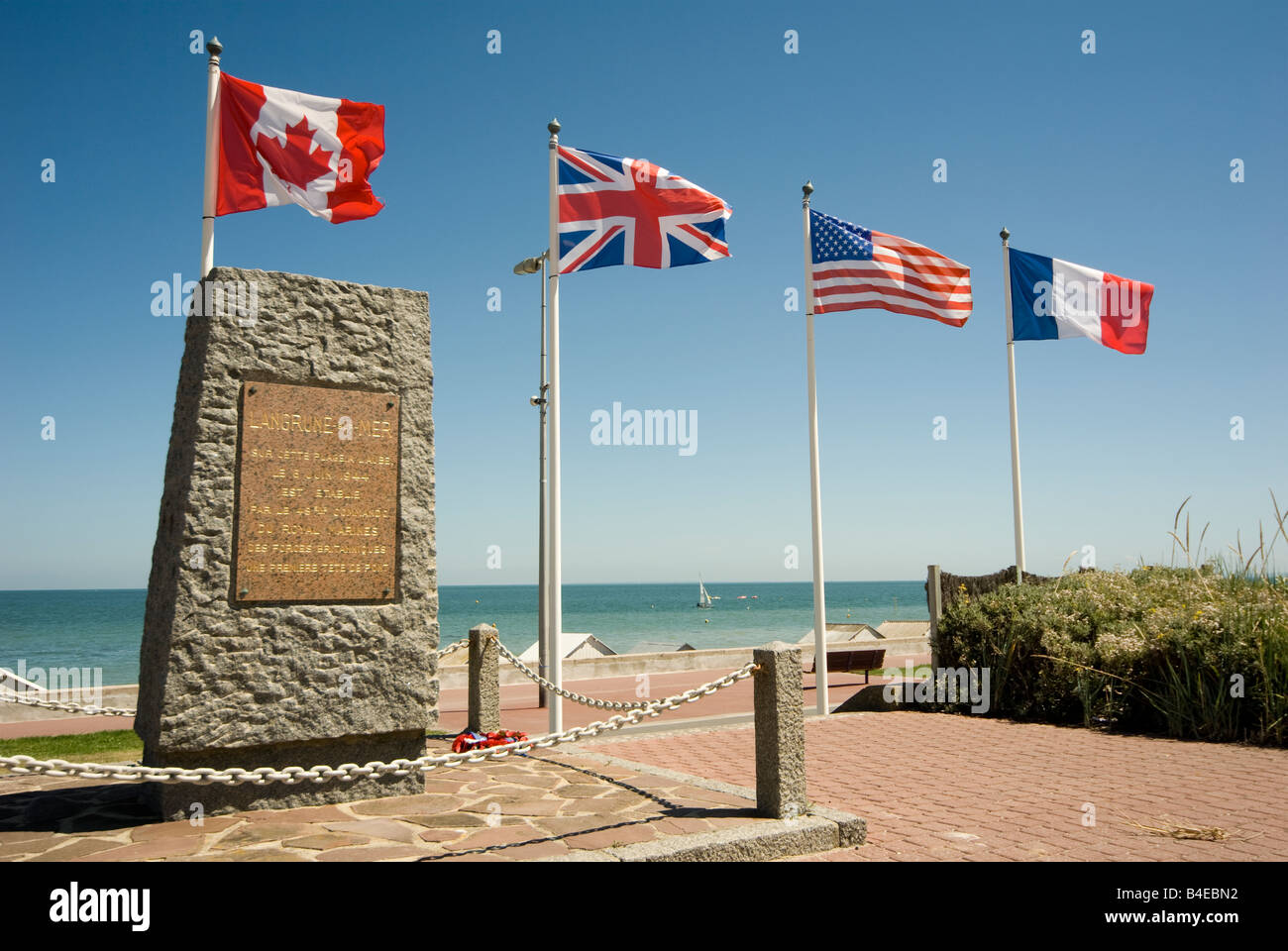 Operation Overlord monument at Langrune sur Mer Normandy France Stock Photo