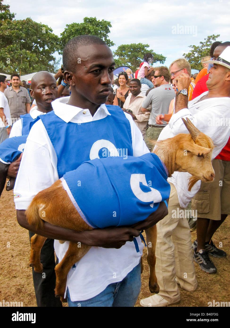 Goat Racing, Dar es Salaam, Tanzania - Stock Image