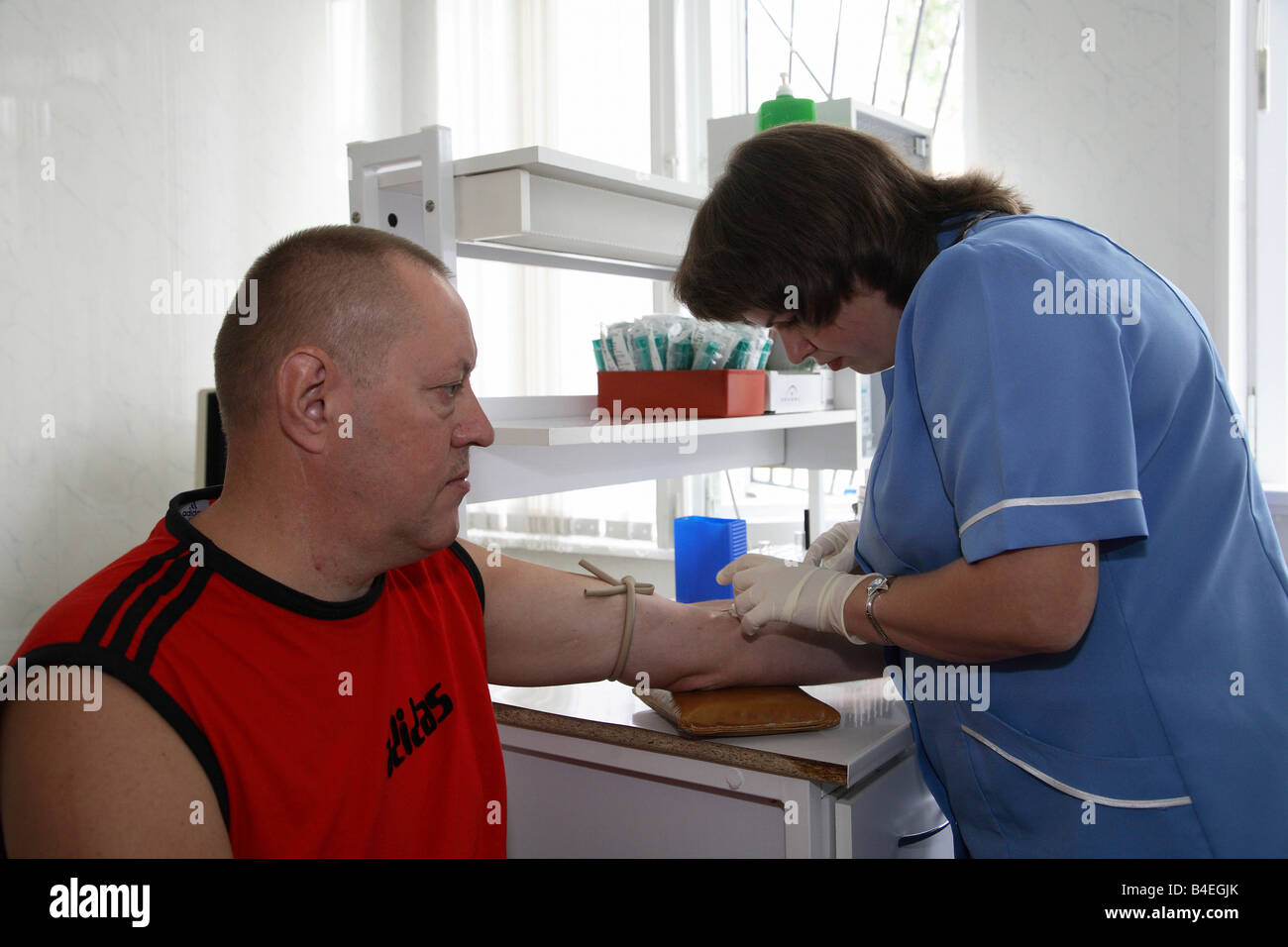 Cancer screening at the Thyroid Centre in Gomel, Belarus - Stock Image