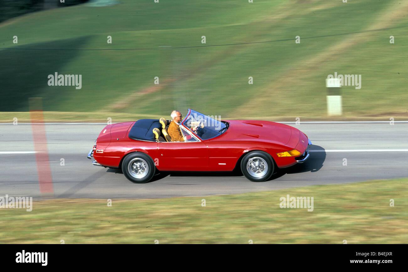 Car Ferrari Daytona Spider 365 Gtb 4 Model Year Approx 1970 Stock Photo Alamy