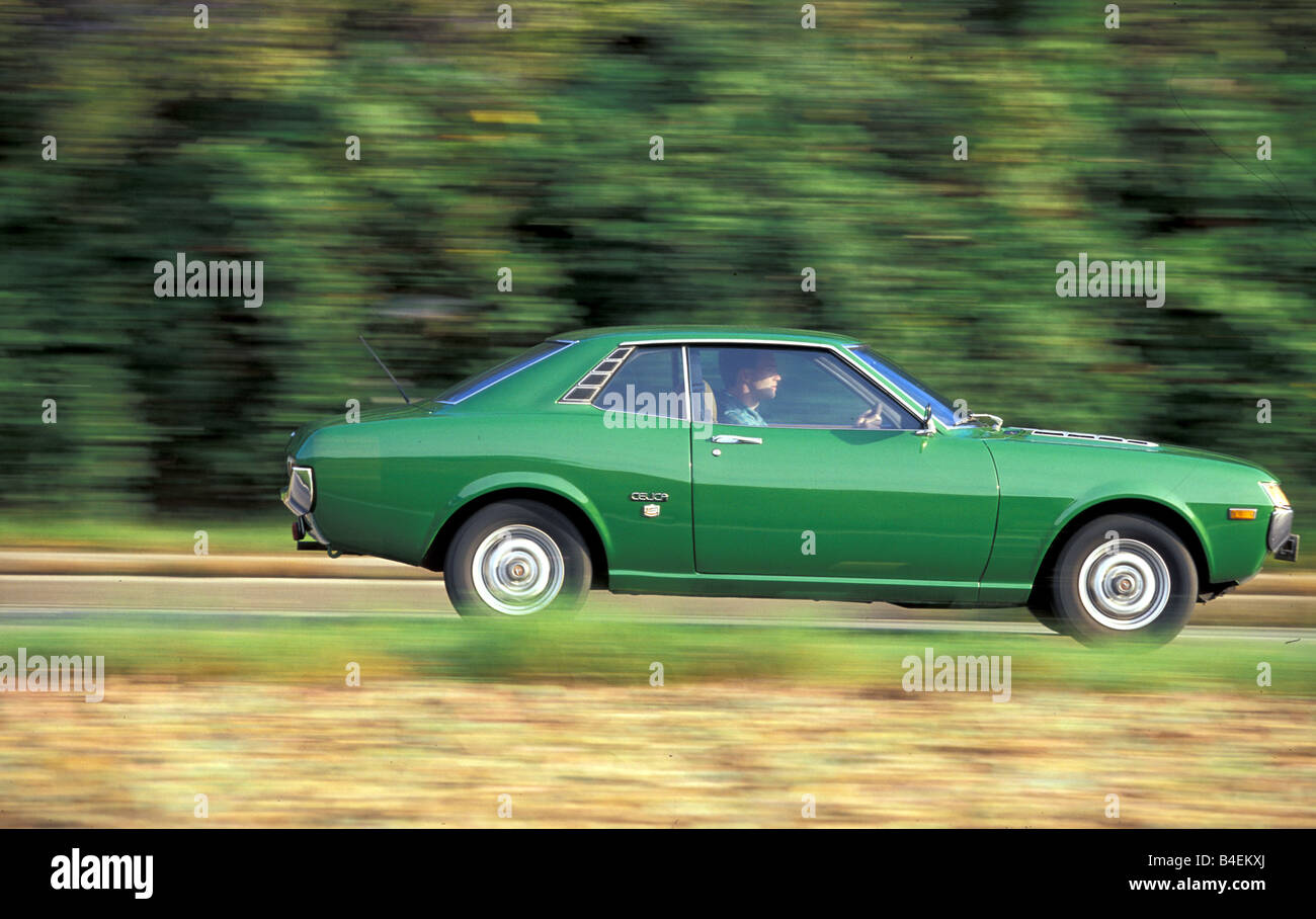 Car, Toyota Celica, Coupé, Coupe, green, model year 1971-1977, old ...