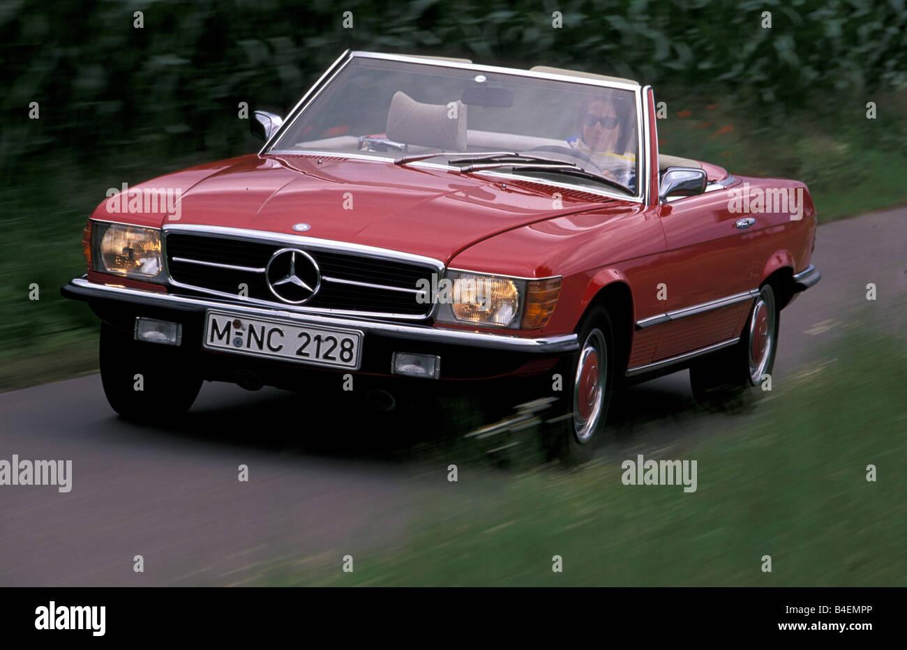 Old Red Model Mercedes Car