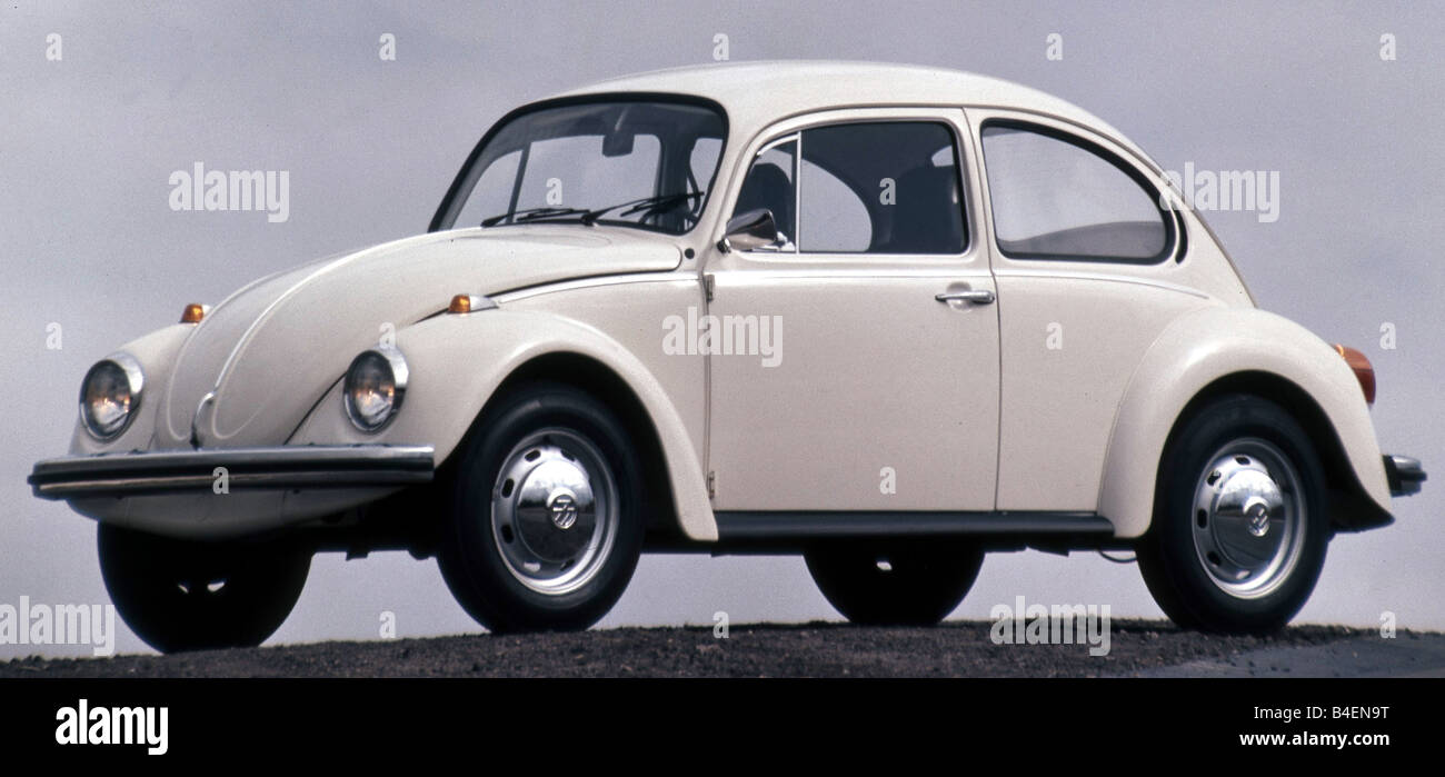 Car Vw Volkswagen Beetle 1300 Model Year 1965 1973 White Stock Photo Alamy