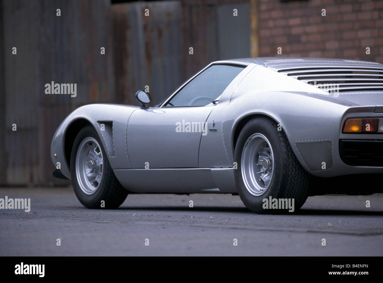 Car Lamborghini Miura Sv Jota Model Year 1970s Seventies Silver