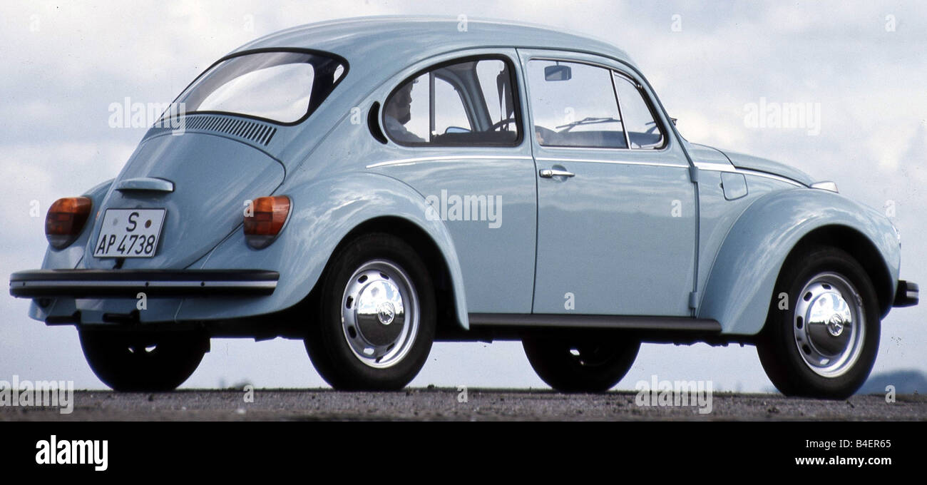 Car, VW, Volkswagen, beetle 1303, light blue, compact, sub-compact, small  car, model year 1972-1975, old car, 1970s, seventies,