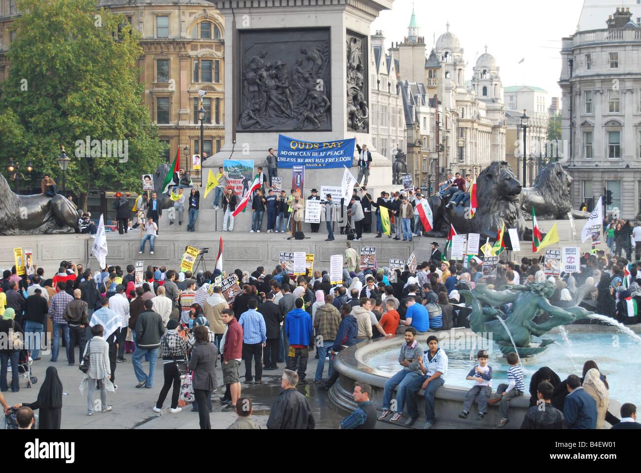 International Al Quds Day Trafalgar Square - Stock Image