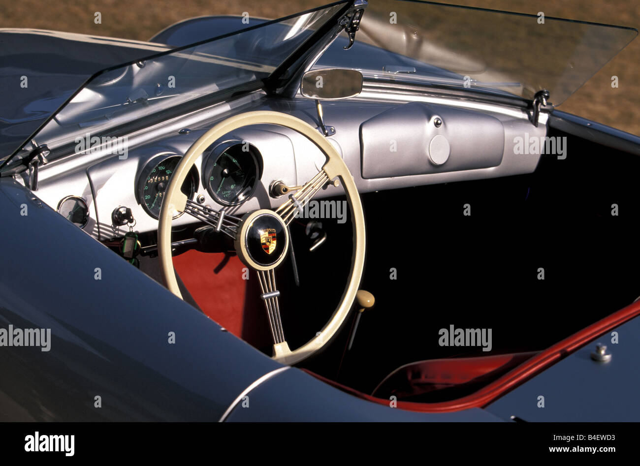 Car, Porsche Nr. 1, convertible, Roadster, silver, model year 1948 ...