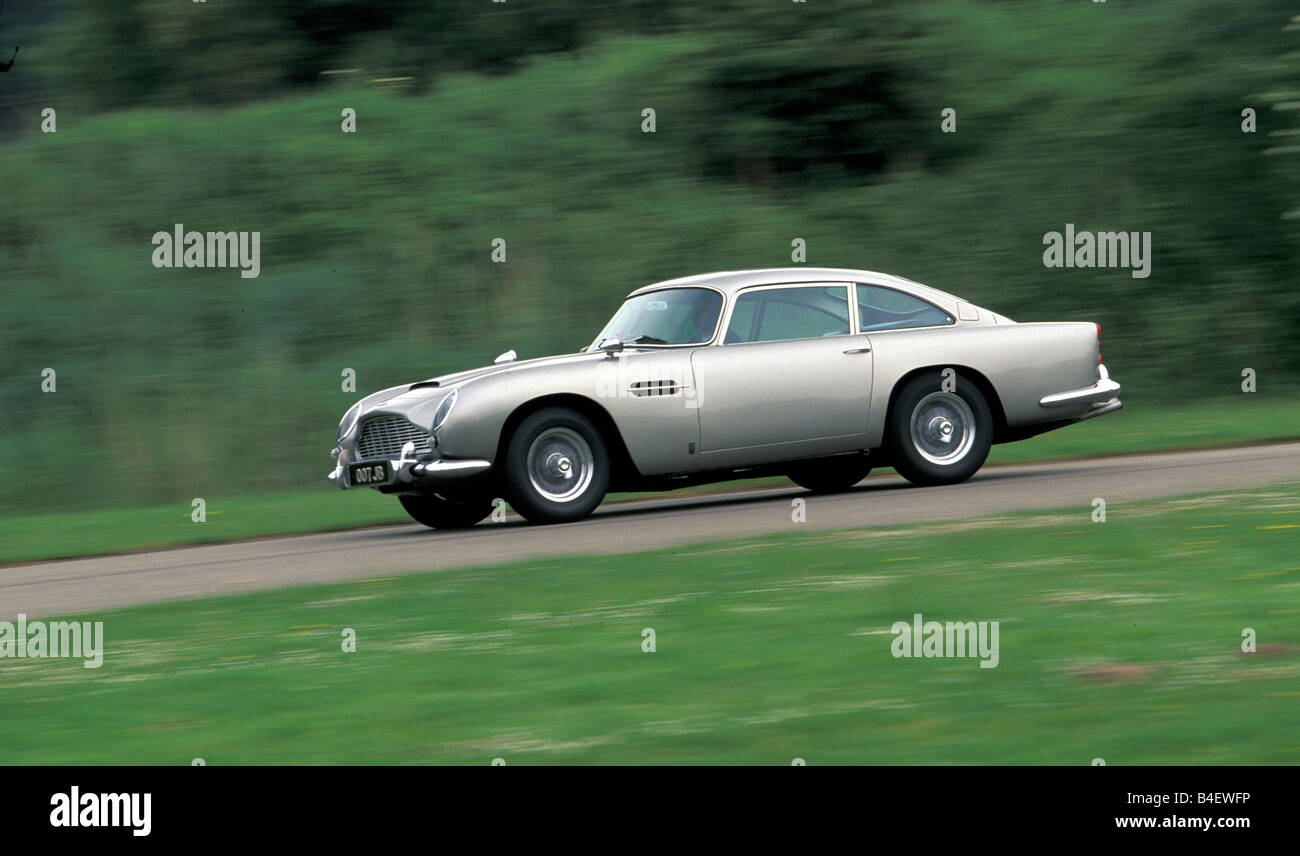 Aston Martin DB5 2017, model year 1963-1965, known from the James Bond Movie Goldfinger Stock Photo