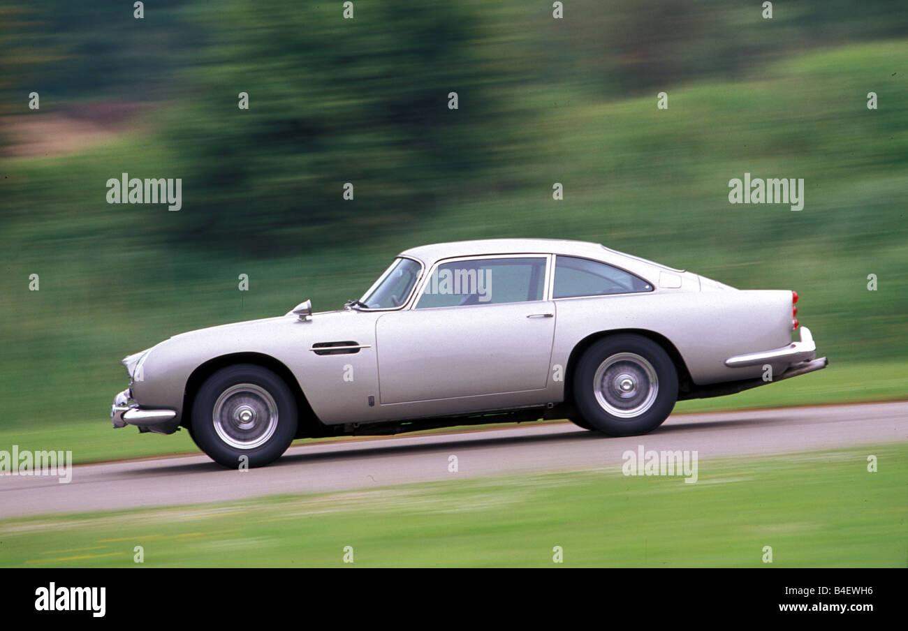 Aston Martin DB5 2017, model year 1963-1965, car staring in the James Bond Movie Goldfinger Stock Photo