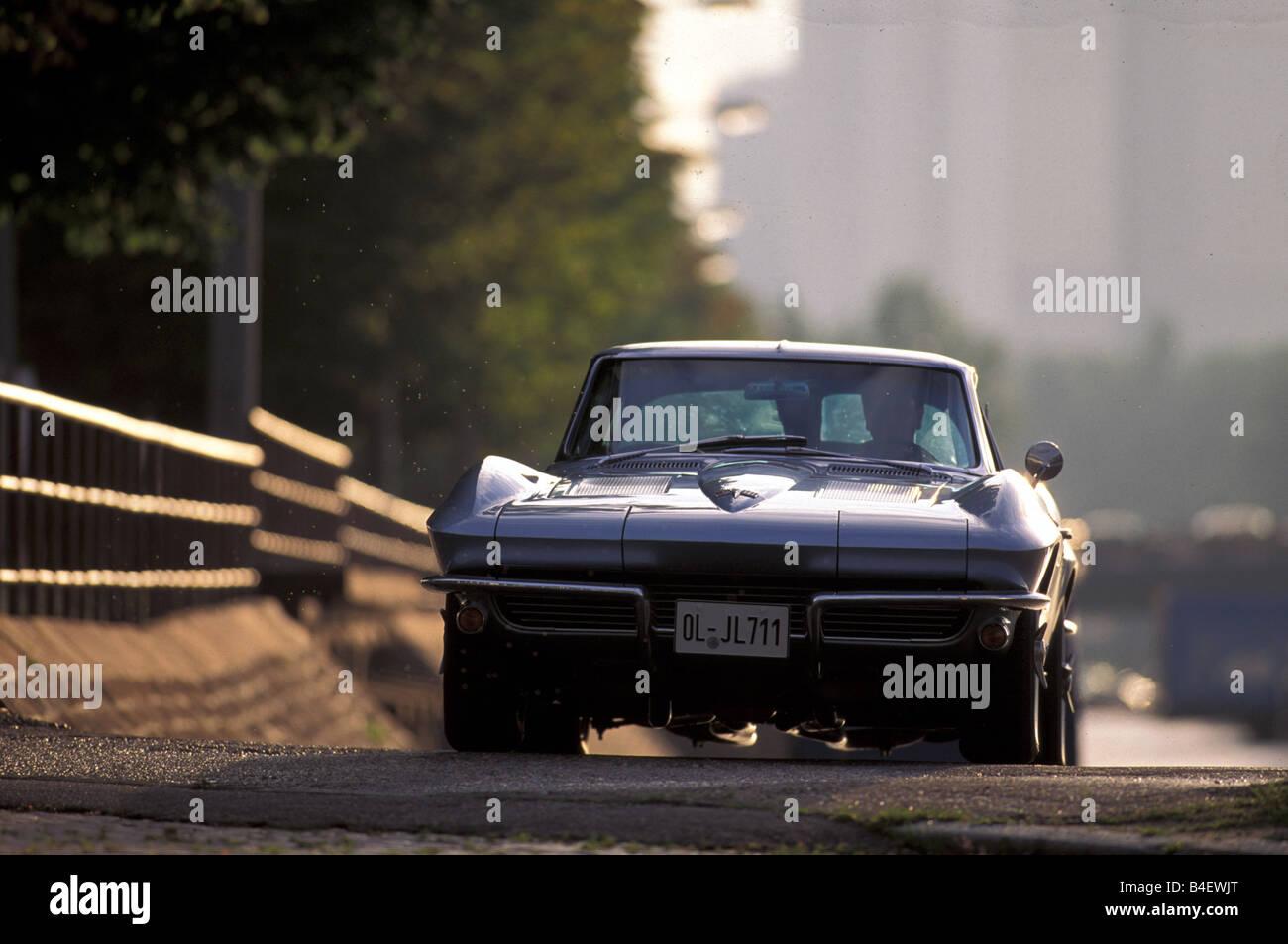 Chevrolet Corvette Sting Ray, model year 1963 - Stock Image