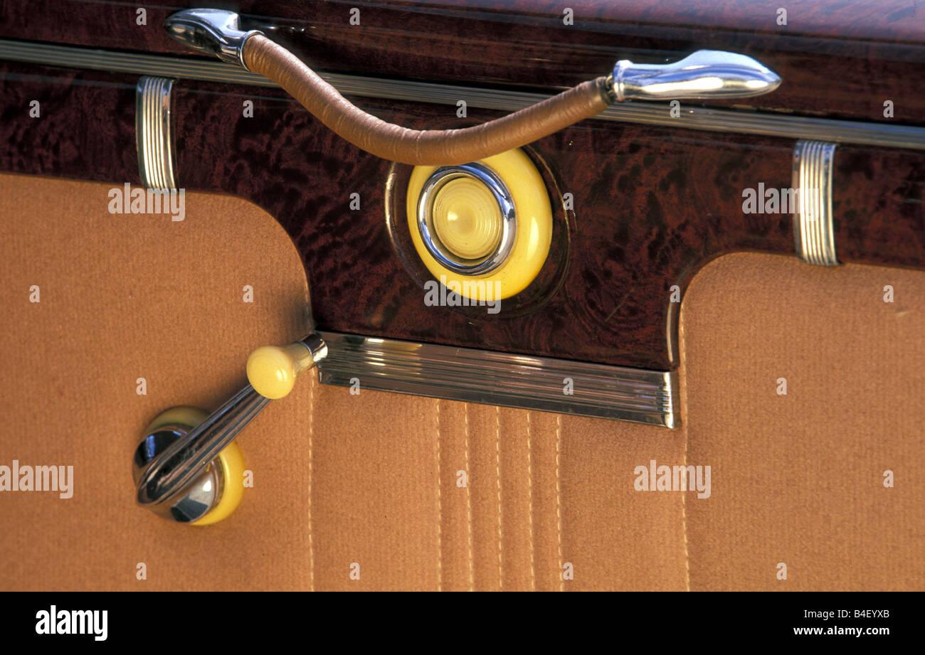 Car Lincoln Zephyr Vintage Car Model Year 1942 Black 1940s