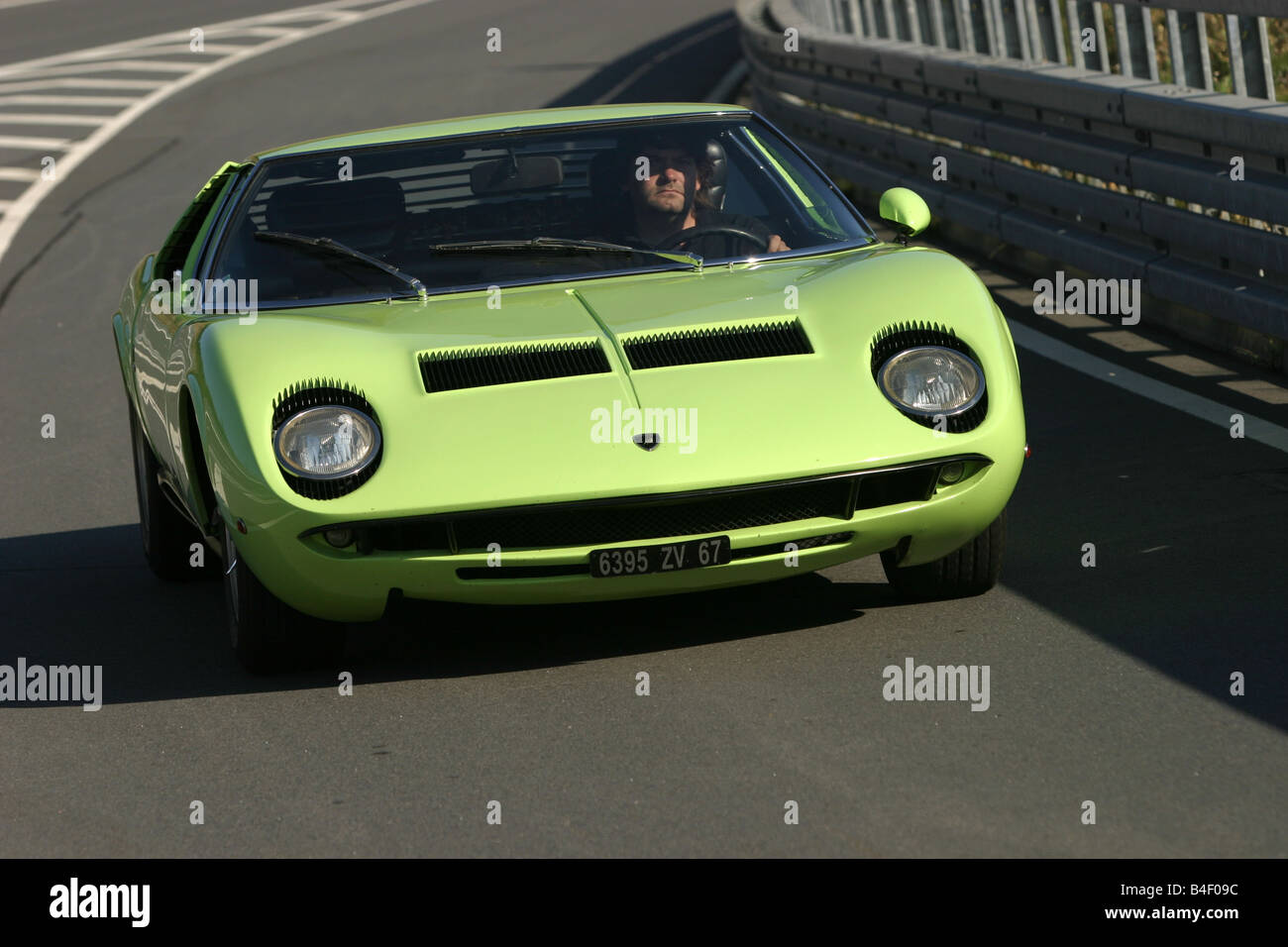 Car Lamborghini Miura P 400 S Vintage Car Green Sports Car