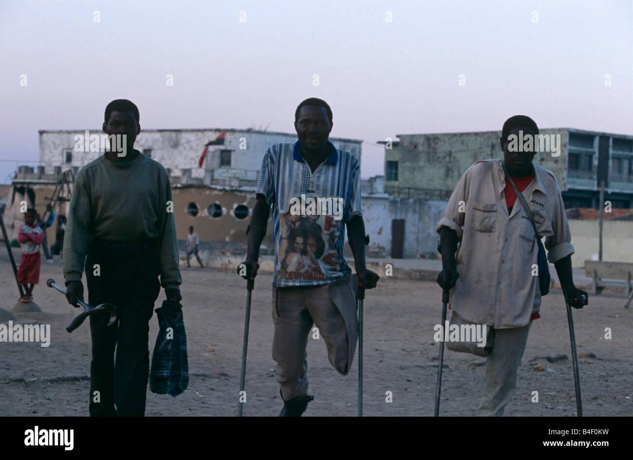 Victims of civil war, Angola - Stock Image