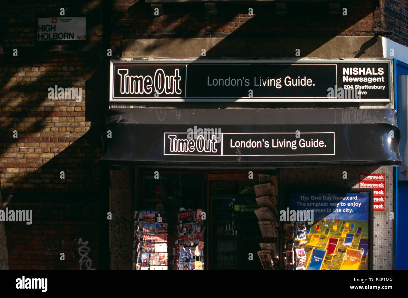 A newsagent in London. Stock Photo