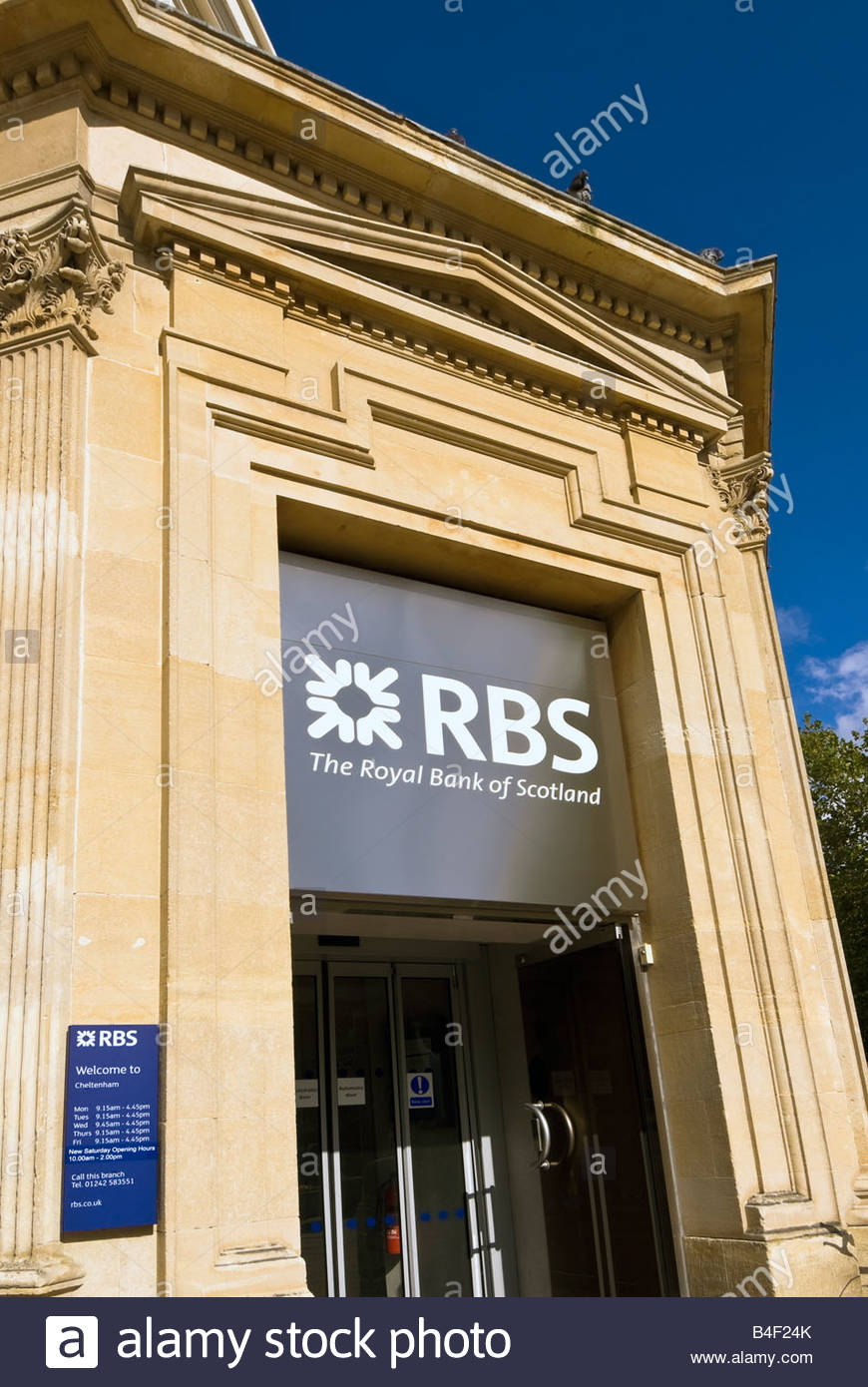 RBS Royal Bank of Scotland. RBS bank branch in Cheltenham, UK. - Stock Image