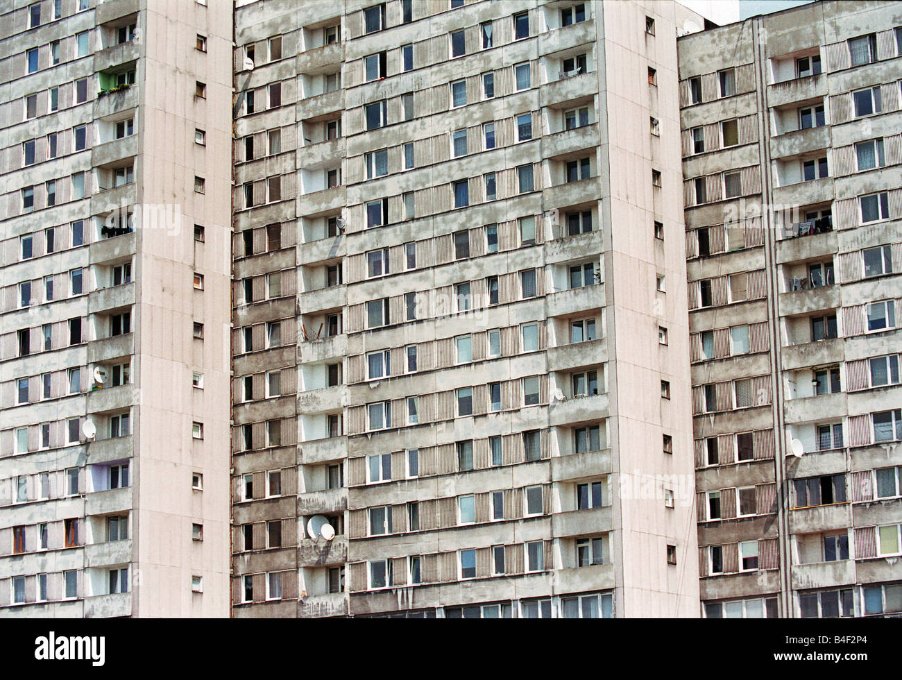 Blocks of flats in Lodz, Poland - Stock Image
