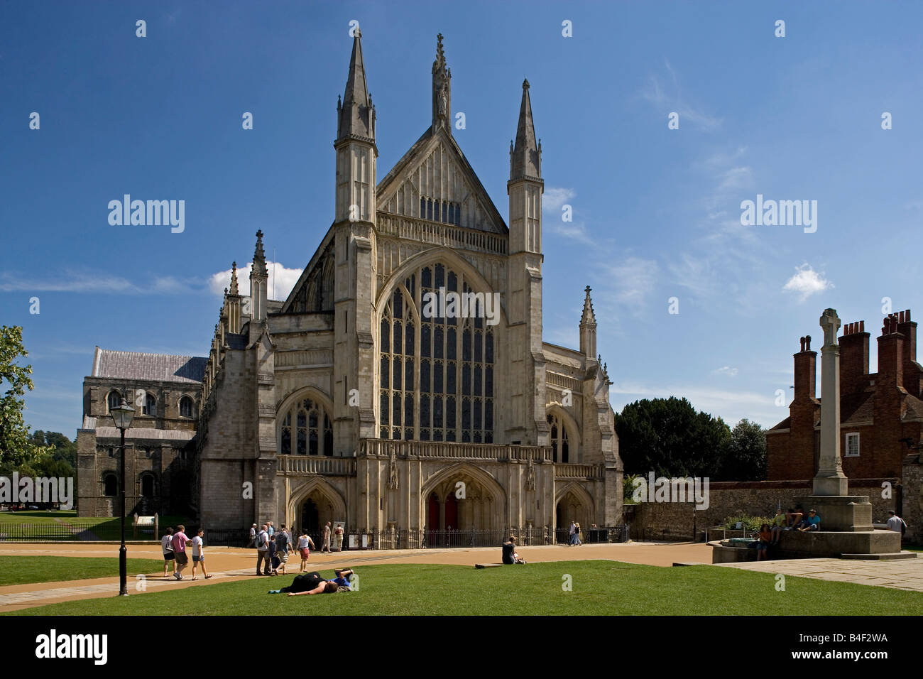 Winchester cathedral from 1079 rebuilt 1107 Old Minster the Perpendicular  style Great Britain Hampshire United Kingdom