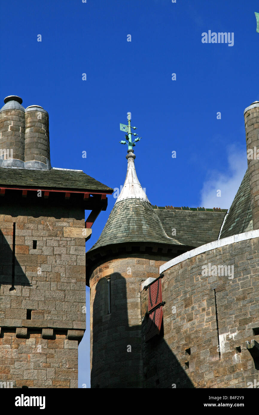 The Well Tower at Castell Coch - Stock Image
