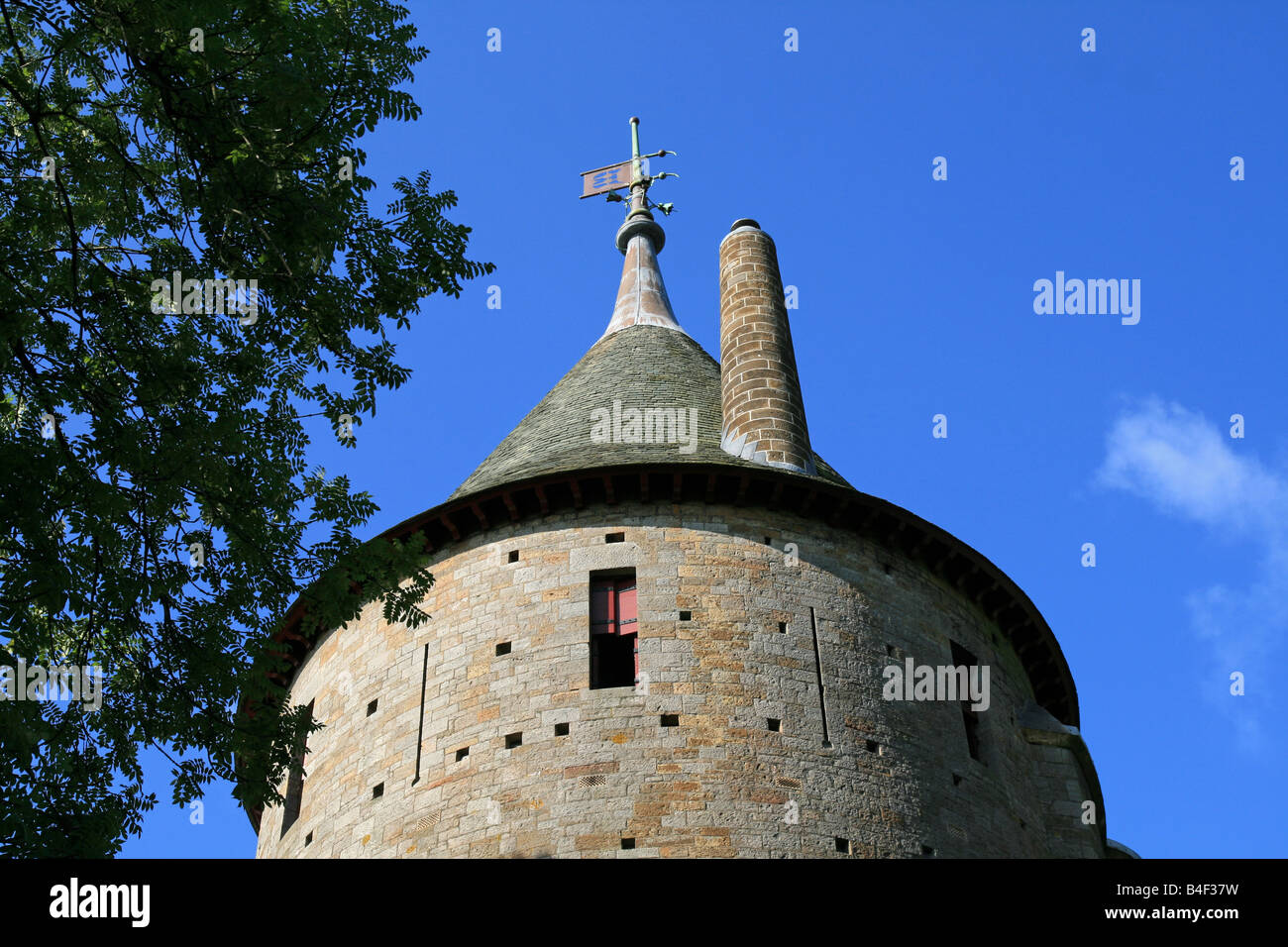 The Keep Tower at Castell Coch - Stock Image