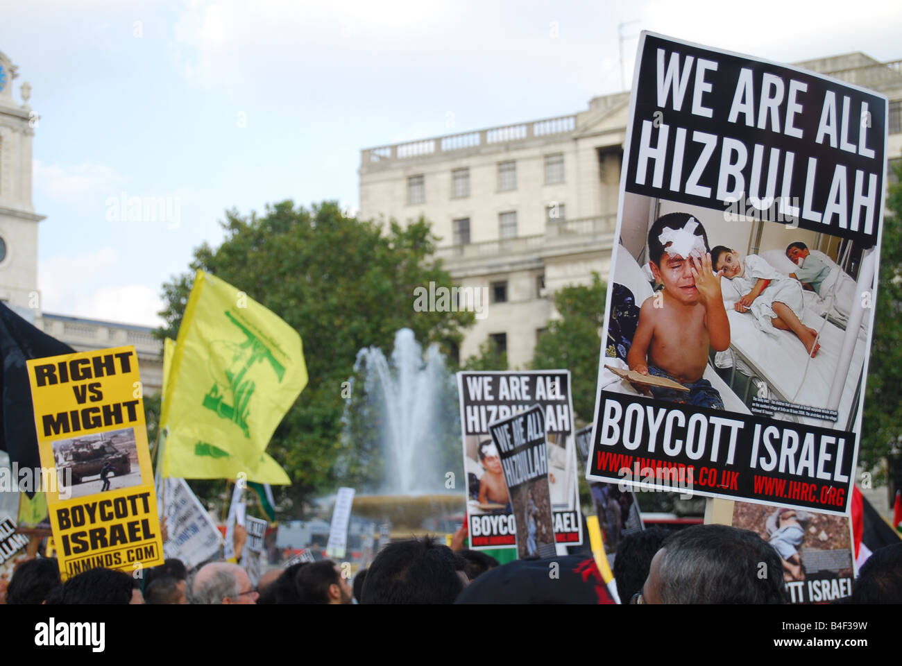 Hizbollah 'al quds' Palestinians - Stock Image