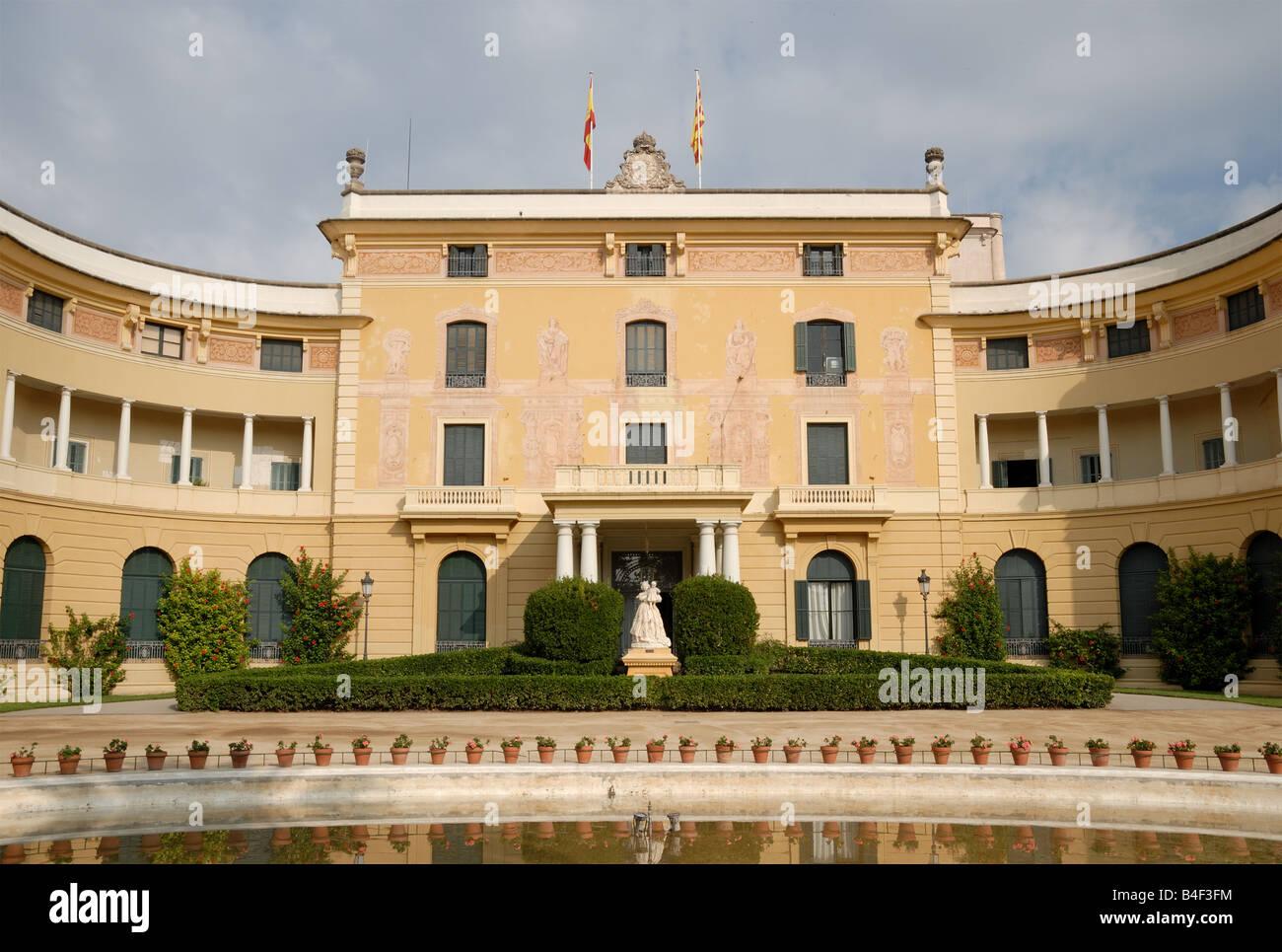 Palau Reial de Pedralbes, Barcelona, Spain - Stock Image