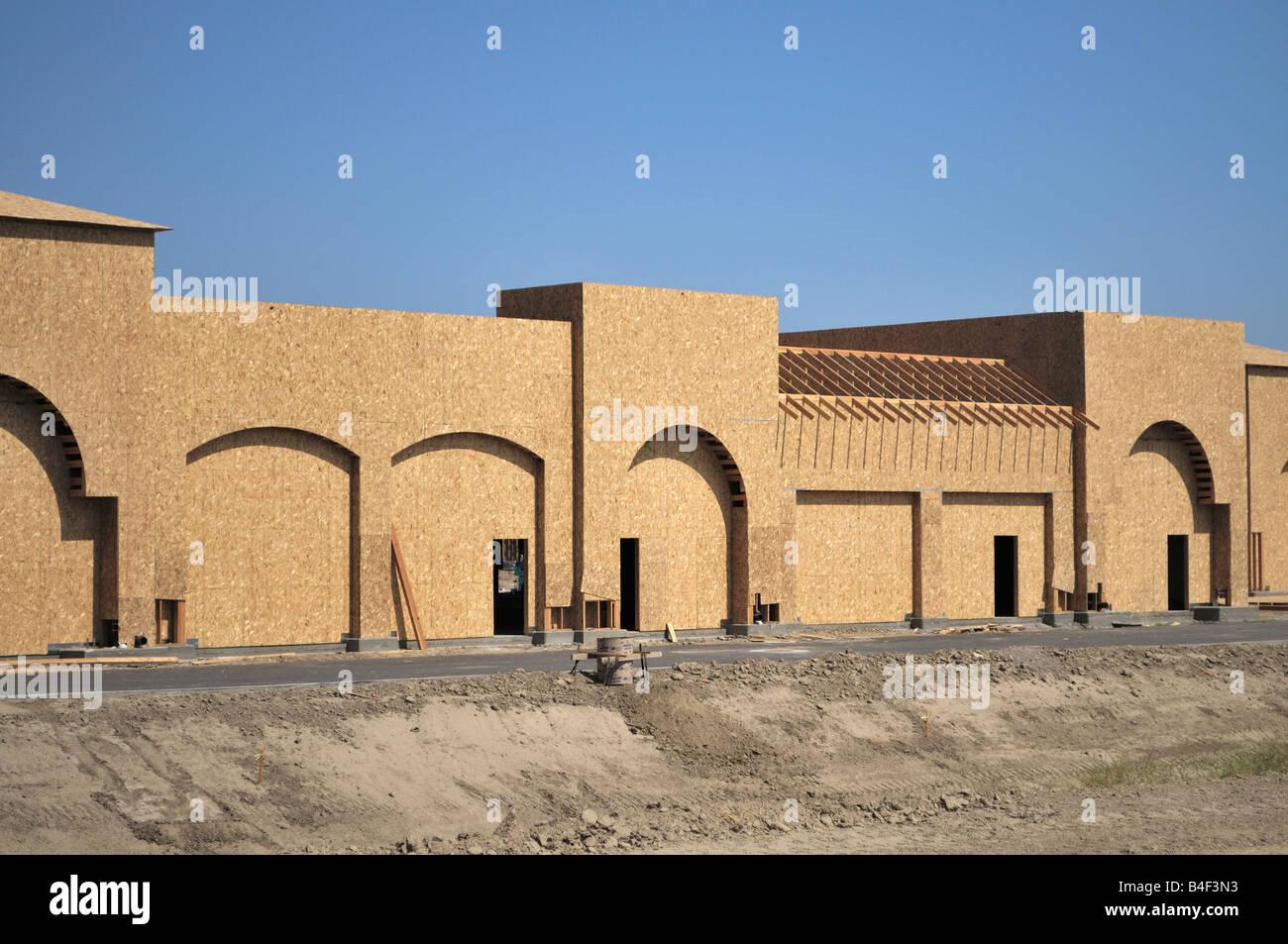 New shopping mall under construction in Camarillo, California - Stock Image