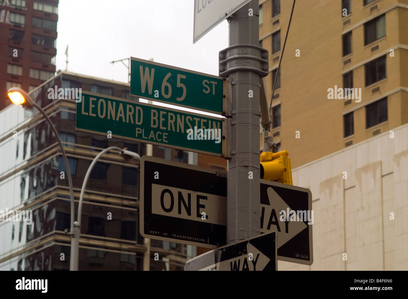 Leonard Bernstein Place West 65th Street Between And Broadway Amsterdam Avenue In New York