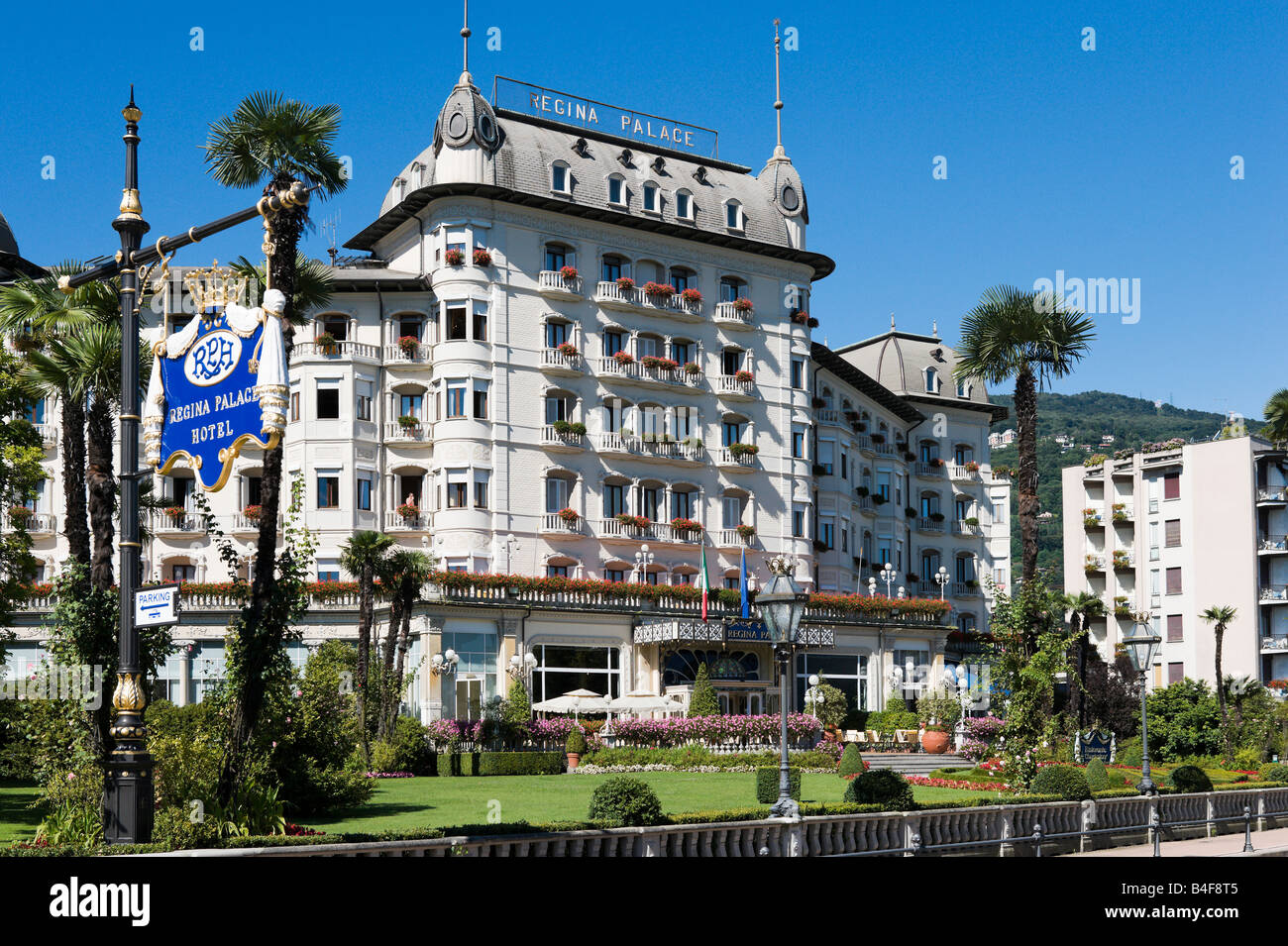 Hotel Regina Palace One Of Many Classic Grand Hotels On The Stock Photo Alamy