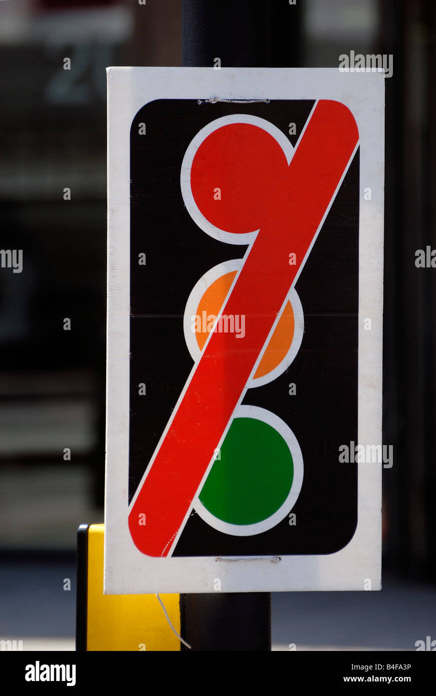 Traffic lights out of order sign - Stock Image