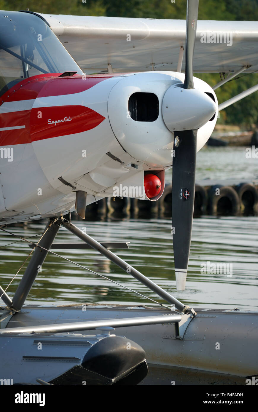 A float plane at Seattle-based Kenmore Air's Lake Washington facility. - Stock Image