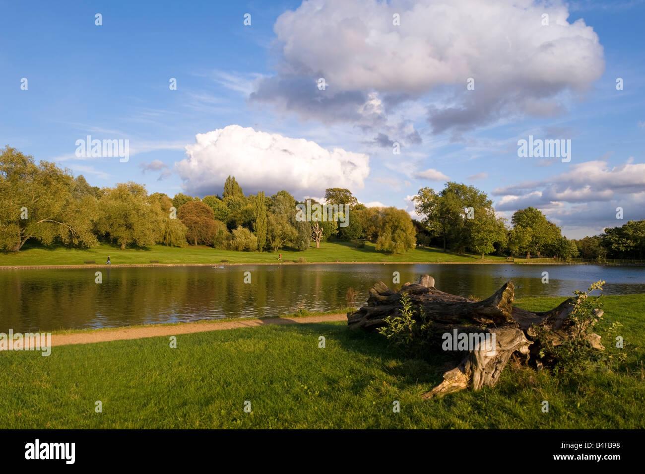 Boating lake Hampstead Heath Hampstead London NW3 United Kingdom - Stock Image