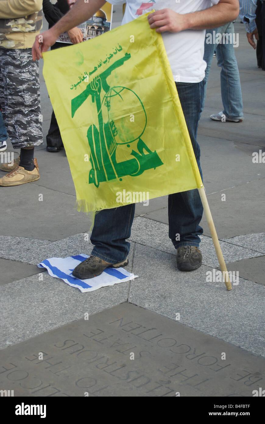 Hezbullah protest 'International Al quds day' London 2008 - Stock Image