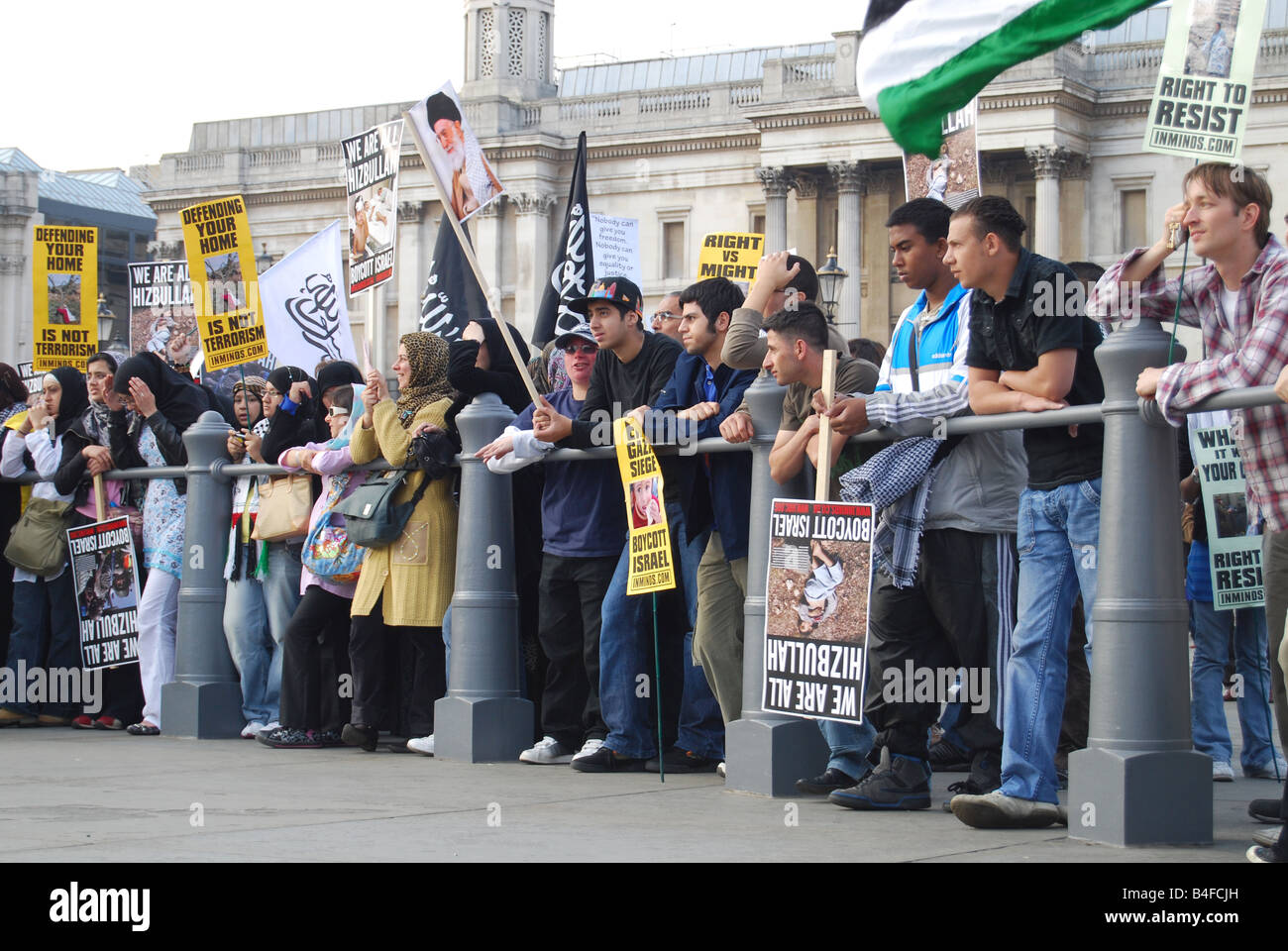 Al quds demonstration Trafalgar square London - Stock Image